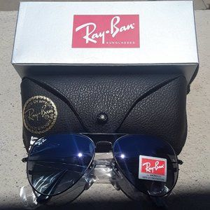 Brand New Blue Granite RayBan Aviators 62mm